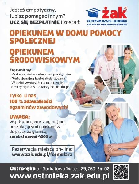 Opiekun W Domu Pomocy Społecznej - Za Darmo - Zaocznie!